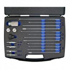 Kit completo per estrazione punta elettrodo candelette M8x1 - M9x1 - M10x1 e M10x1.25