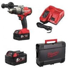 Trapano avvitatore Fuel a percussione Milwaukee M18 FPD-502X 2 batterie 5 Ah
